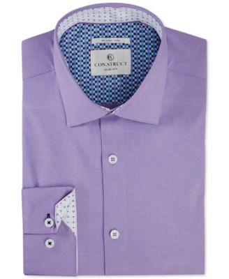 construct men\u0027s shirts macy\u0027sstruct men\u0027s slim fit stretch solid dress shirt, created for macy\u0027s