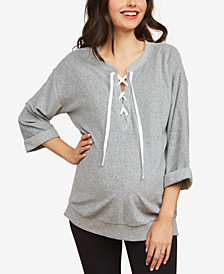 Motherhood Maternity Lace-Up Sweatshirt