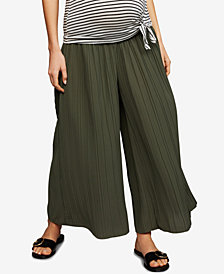 A Pea In The Pod Maternity Pleated Wide-Leg Soft Pants