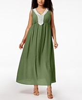 091c09762a NY Collection Plus Size Crochet-Trim Maxi Dress
