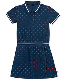 Tommy Hilfiger Big Girls Printed Polo Dress
