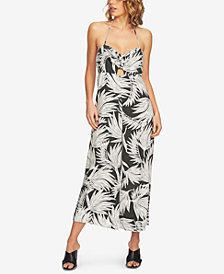 1.STATE Printed Cutout Halter Jumpsuit