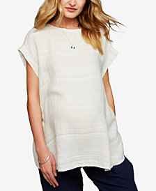 A Pea In The Pod Maternity Textured Top
