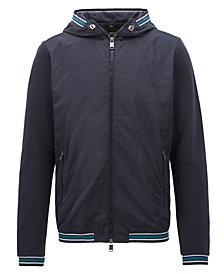 BOSS Men's Slim-Fit Full-Zip Hooded Sweatshirt