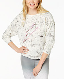 Material Girl Juniors' Graphic-Print Sweatshirt, Created for Macy's