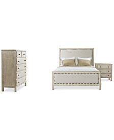 Parker Upholstered Bedroom 3-Pc. Set (Queen Bed, Chest & Nightstand), Created for Macy's
