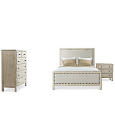 Parker Upholstered Bedroom Furniture, 3-Pc. Set (King Bed, Chest & Nightstand), Created for Macy's