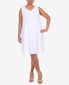 NY Collection Plus Size Crochet-Trim A-Line Dress