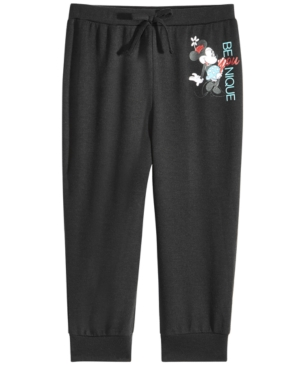 Disney Big Girls Minnie Mouse Younique Capri Jogger Pants