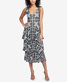 RACHEL Rachel Roy Tiered Midi Dress, Created for Macy's
