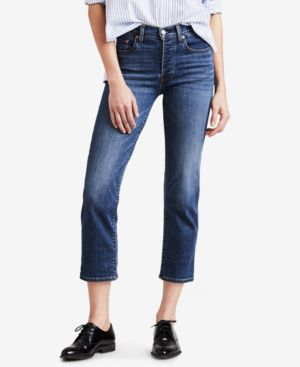 WEDGIE STRAIGHT-LEG CROPPED JEANS