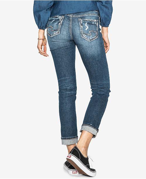 Indigo Rise Suki Silver Jeans Curvy Ankle Mid Co Slim Jeans nwTTxCO
