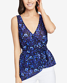 RACHEL Rachel Roy Printed Wrap Top, Created for Macy's