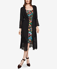 BCBGMAXAZRIA Lace Robe Jacket