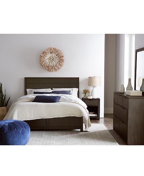 Furniture Tribeca Brown Storage Platform Bedroom Furniture Collection, Created for Macy's