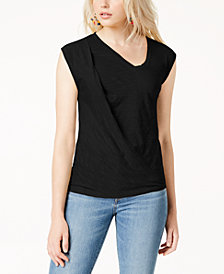 Bar III Twisted Sleeveless T-Shirt, Created for Macy's
