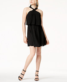 Bar III Popover Halter Shift Dress, Created for Macy's