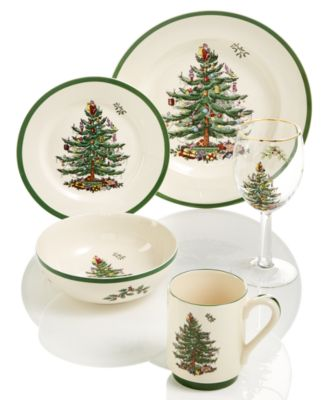 Christmas Tree Dinnerware Salad Plate, Set of 4
