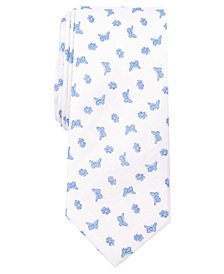 Tallia Men's Butterfly Floral Slim Linen Tie