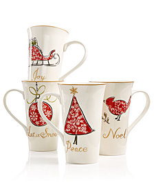 222 Fifth Natala Latte Mugs, Set of 4