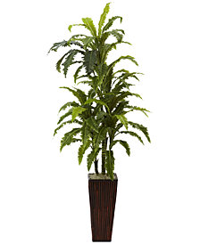 Nearly Natural Marginata Artificial Plant in Bamboo Planter