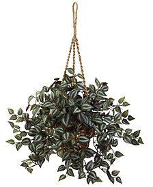 Wandering Jew Artificial Plant Hanging Basket