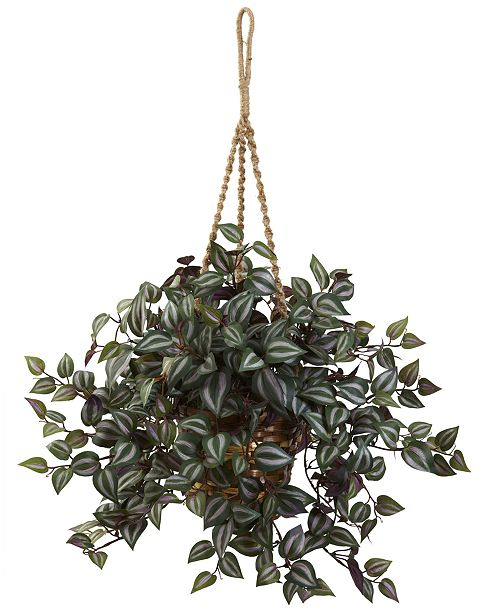 Nearly Natural Wandering Jew Artificial Plant Hanging Basket
