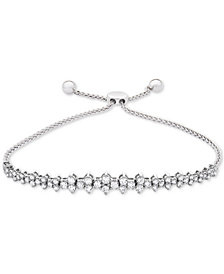 Wrapped in Love™ Diamond Honeycomb Bolo Bracelet (1-1/2 ct. t.w.) in 14k White Gold, Created for Macy's