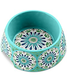 Carmel Medallion Turquoise Medium Pet Bowl