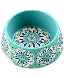 TarHong Carmel Medallion Turquoise Medium Pet Bowl