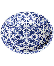 TarHong Canyon Clay Indigo Pet Saucer