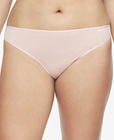 4d18b828851cd Calvin Klein Plus Size Form Stretch Thong QD3709