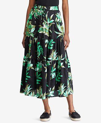 Lauren Ralph Lauren Petite Printed Cotton Skirt $64.8 (Macy's)