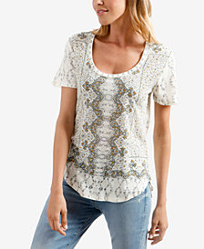 Lucky Brand Printed Scoop-Neck T-Shirt