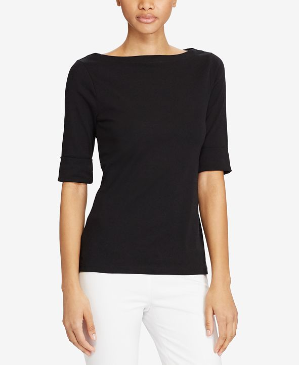 Lauren Ralph Lauren Stretch Boatneck Top
