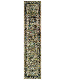 "Macy's Fine Rug Gallery Journey Sardana Green 2' 6"" x 12' Runner"