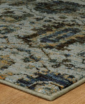 "Journey Amizade Blue 10' x 13' 2"" Area Rug"