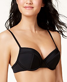 Hula Honey Juniors' Push-Up Bikini Top, Created for Macy's