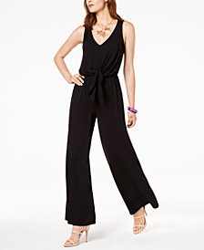I.N.C. Sleeveless Tie-Waist Jumpsuit, Created for Macy's