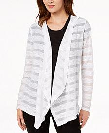 I.N.C. Illusion-Stripe Cardigan, Created for Macy's