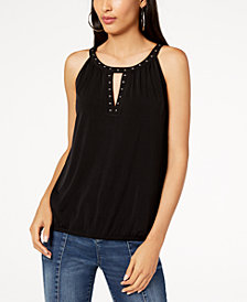 I.N.C. Studded Keyhole Top, Created for Macy's