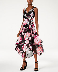 I.N.C. Ruffled Asymmetrical Maxi Dress, Created for Macy's
