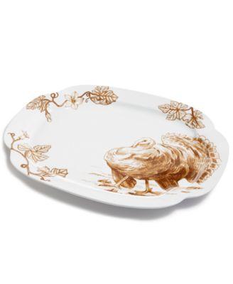 Sepia Turkey Platter