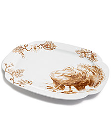 Martha Stewart Collection Sepia Turkey Platter
