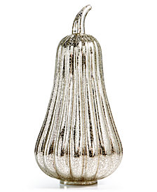 Martha Stewart Collection LED Tall Glass Pumpkin