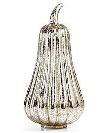 Martha Stewart Collection LED Tall Glass Pumpkin