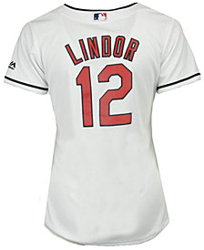 Majestic Women's Francisco Lindor Cleveland Indians Cool Base Player Replica Jersey