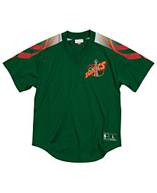 Mitchell & Ness Men's Seattle SuperSonics Winning Team Mesh V-Neck Jersey