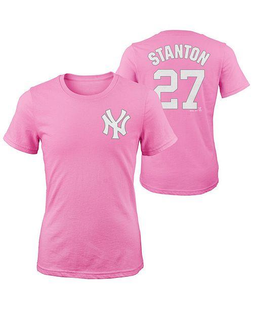 size 40 08522 537f9 Stanton New Giancarlo Yankees T-shirt 4-16 York Player Girls ...