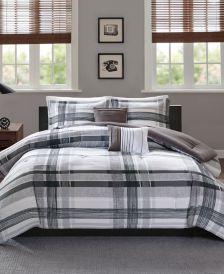 Rudy 5-Pc. Plaid Full/Queen Comforter Set
